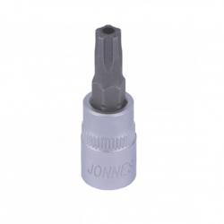 Klucz wpustowy (nasadka) 1/4'' Torx 5-kąt. z otworem Jonnesway