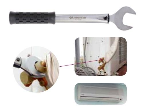 Zestaw kluczy płaskich dynamometrycznych do klimatyzacji King Tony