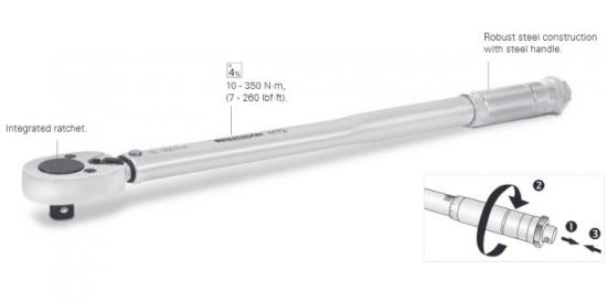 Klucz dynamometryczny  3/8&#34   10-110 Nm Matador