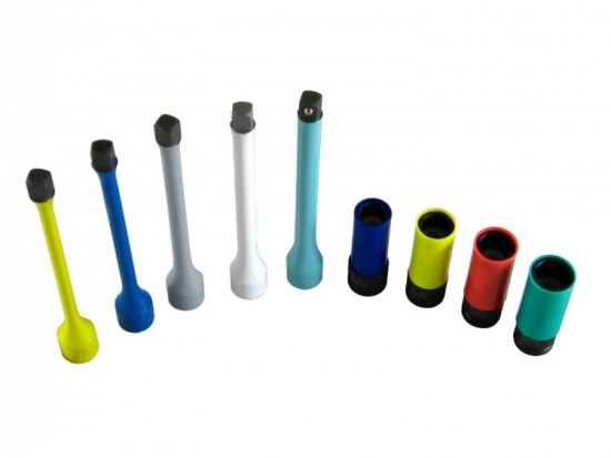 Zestaw nasadek i przedłużek dynamometrycznych udarowych do felg Action