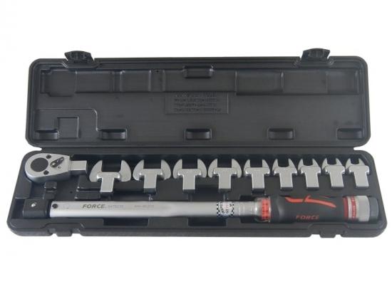 Klucz dynamometryczny 40-210Nm z wymiennymi końcówkami Force