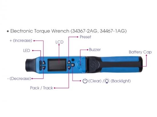 """Klucz dynamometryczny 1/2"""" 40-200Nm elektroniczny King Tony"""