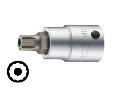 Klucz wpustowy (nasadka) 3/4'' Spline (XZN) M16 z otworem Force