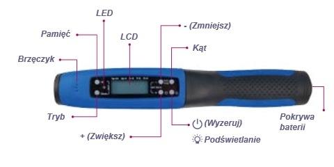Klucz dynamometryczny 3/8&#34 27-135Nm elektroniczny ze wzkaźnikiem kąta